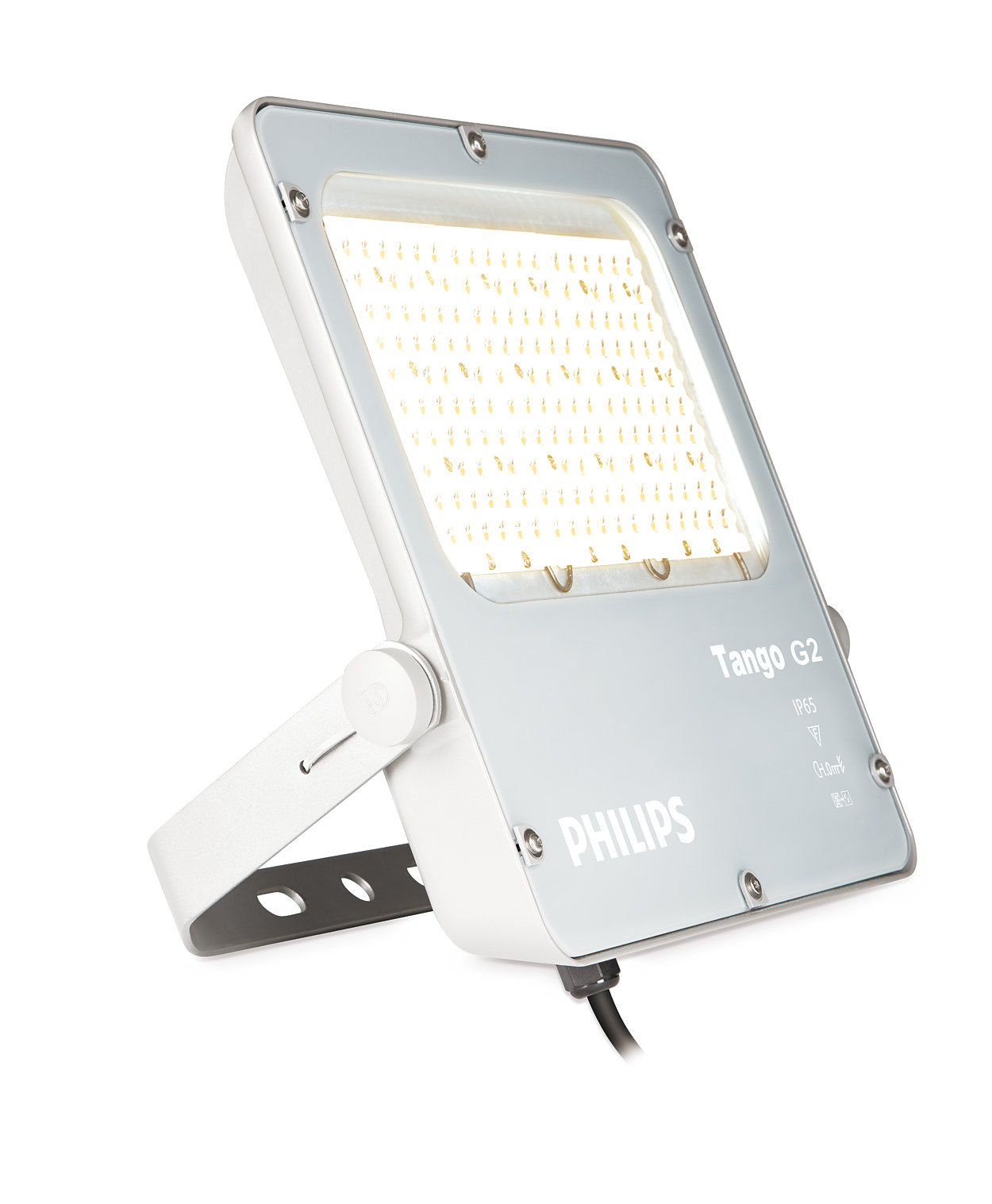 Rango completo de reflectores solares configurables y conectados hasta de 15,000 lúmenes.