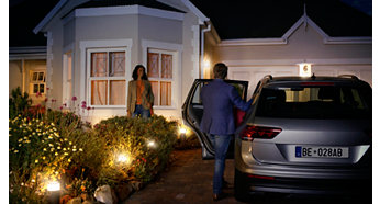 Definir as luzes para dar-lhe as boas-vindas a casa