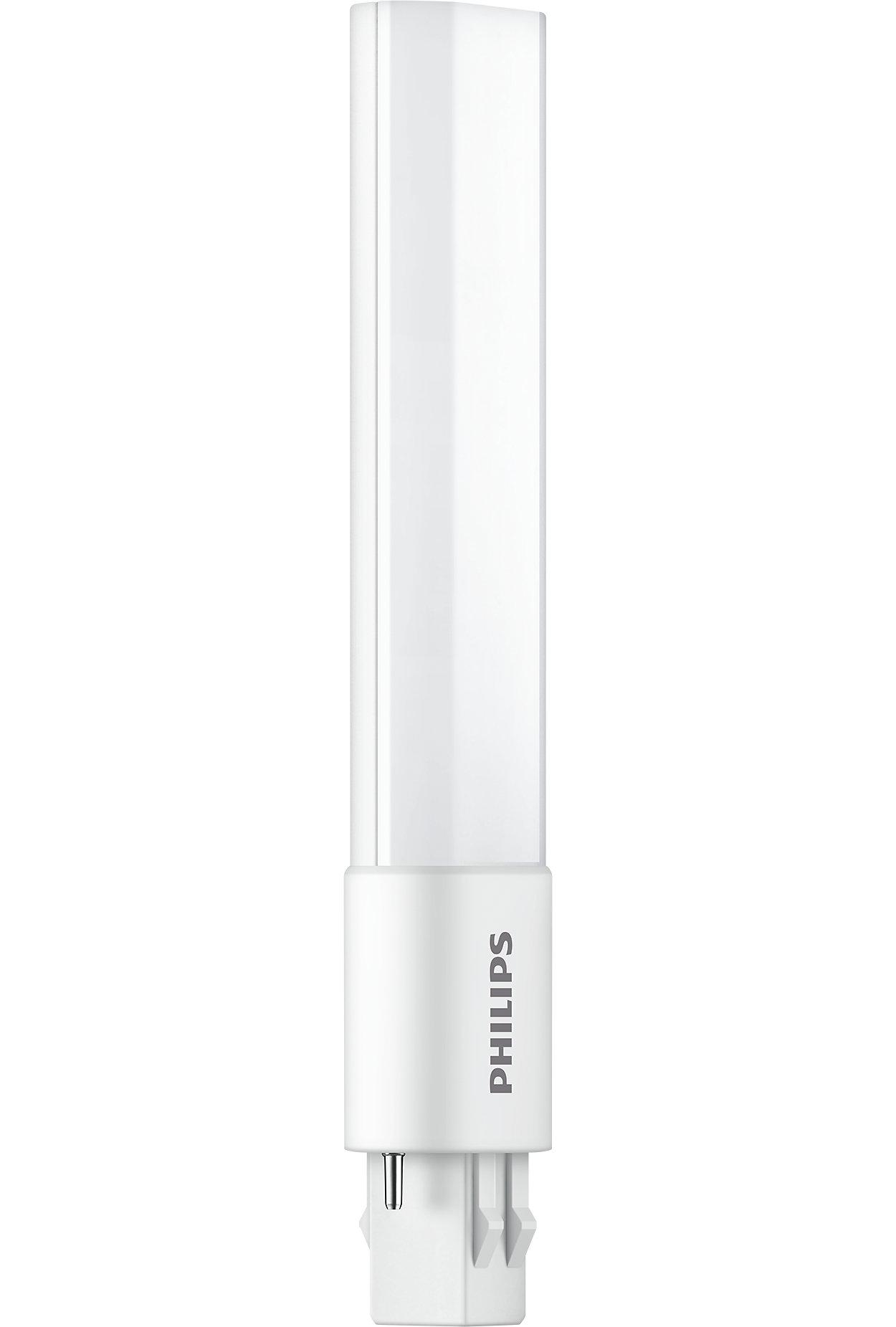 La solution DEL la plus sophistiquée de Philips pour le remplacement des lampes fluocompactes PL-S à 2broches