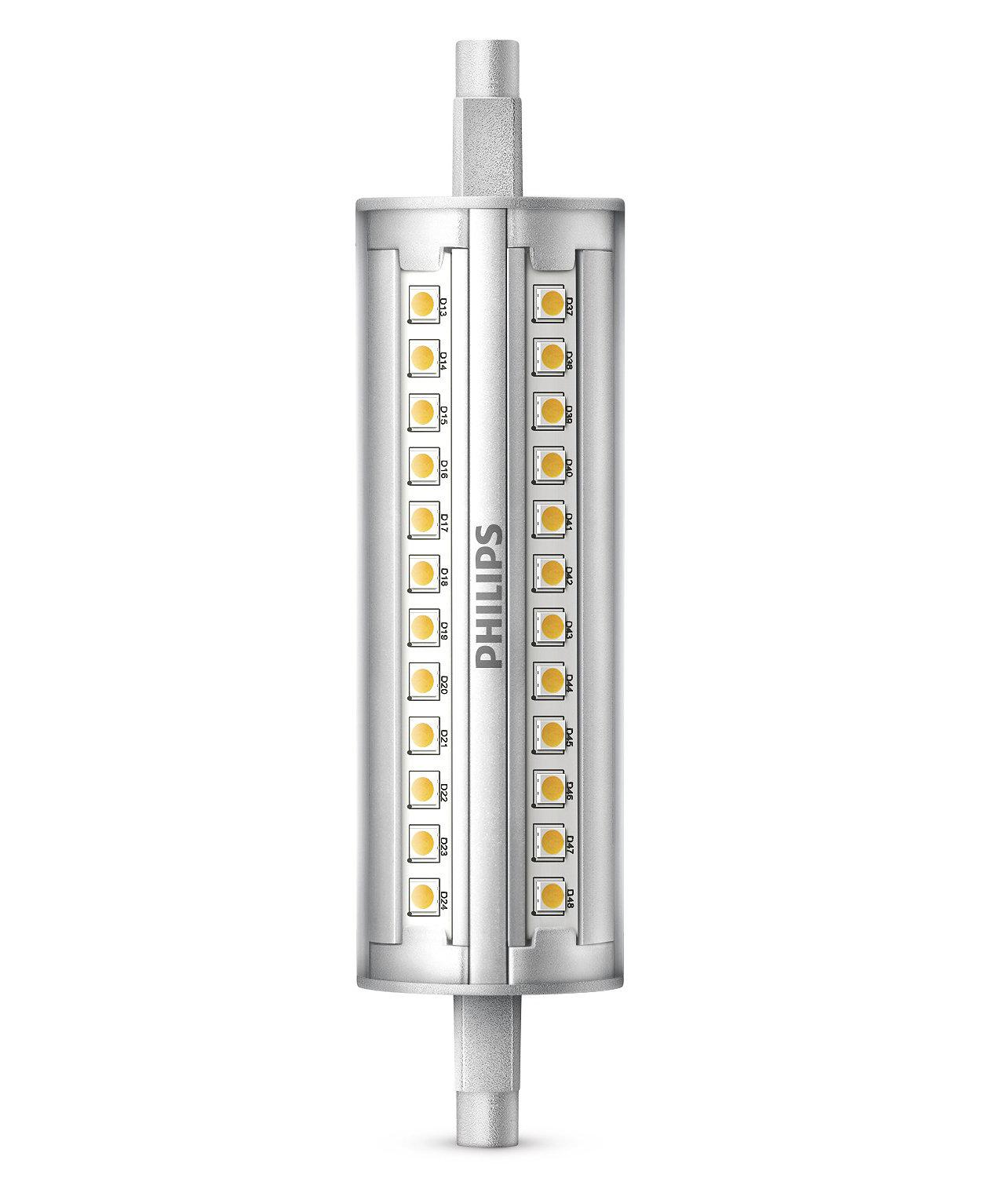 Lumină LED liniară cu putere reglabilă, fascicul cu unghi de 300°