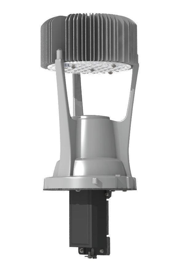 Teardrop, 64 LED, Type II, Long Acrylic Globe, 3000K