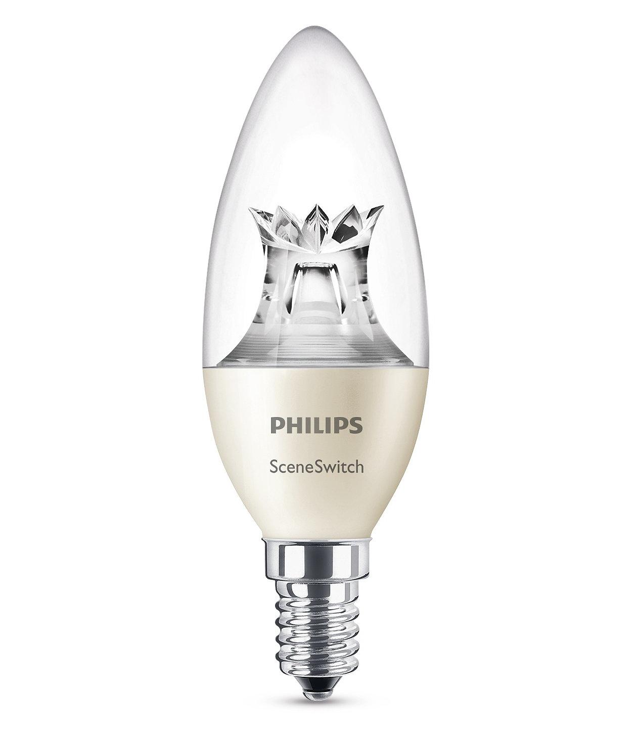 Eine Lampe. Ihr Schalter. Drei Lichteinstellungen.