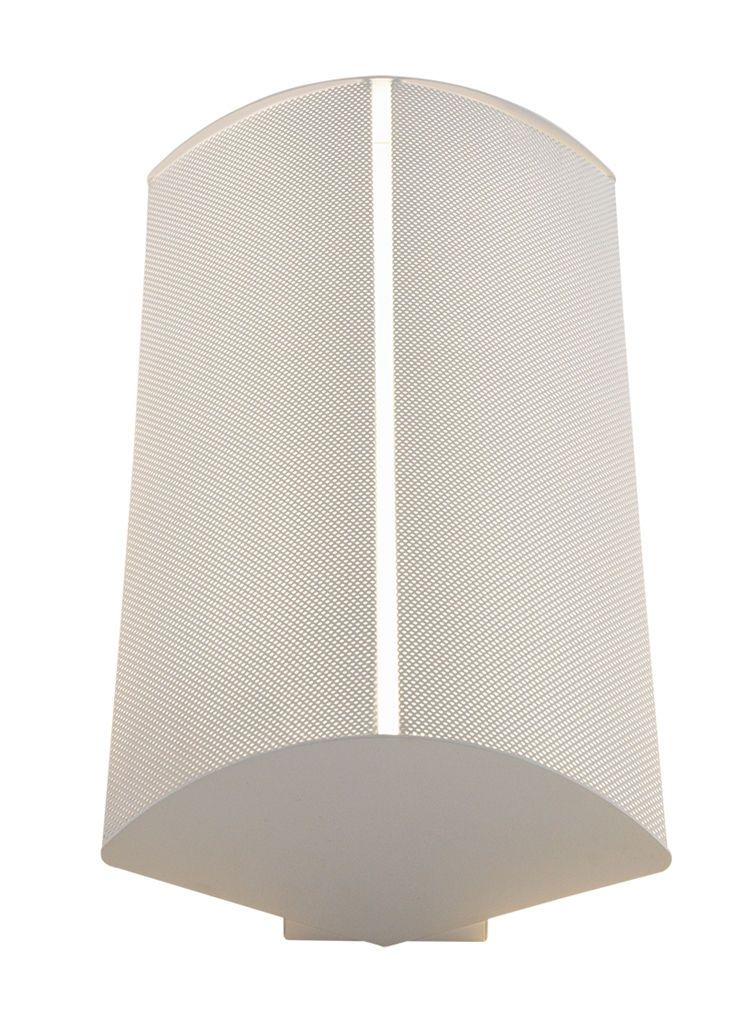 2', 2 Lamp CF55,  Surface Sconce, 2-Piece Perforated Metal Shield w/White Overlay