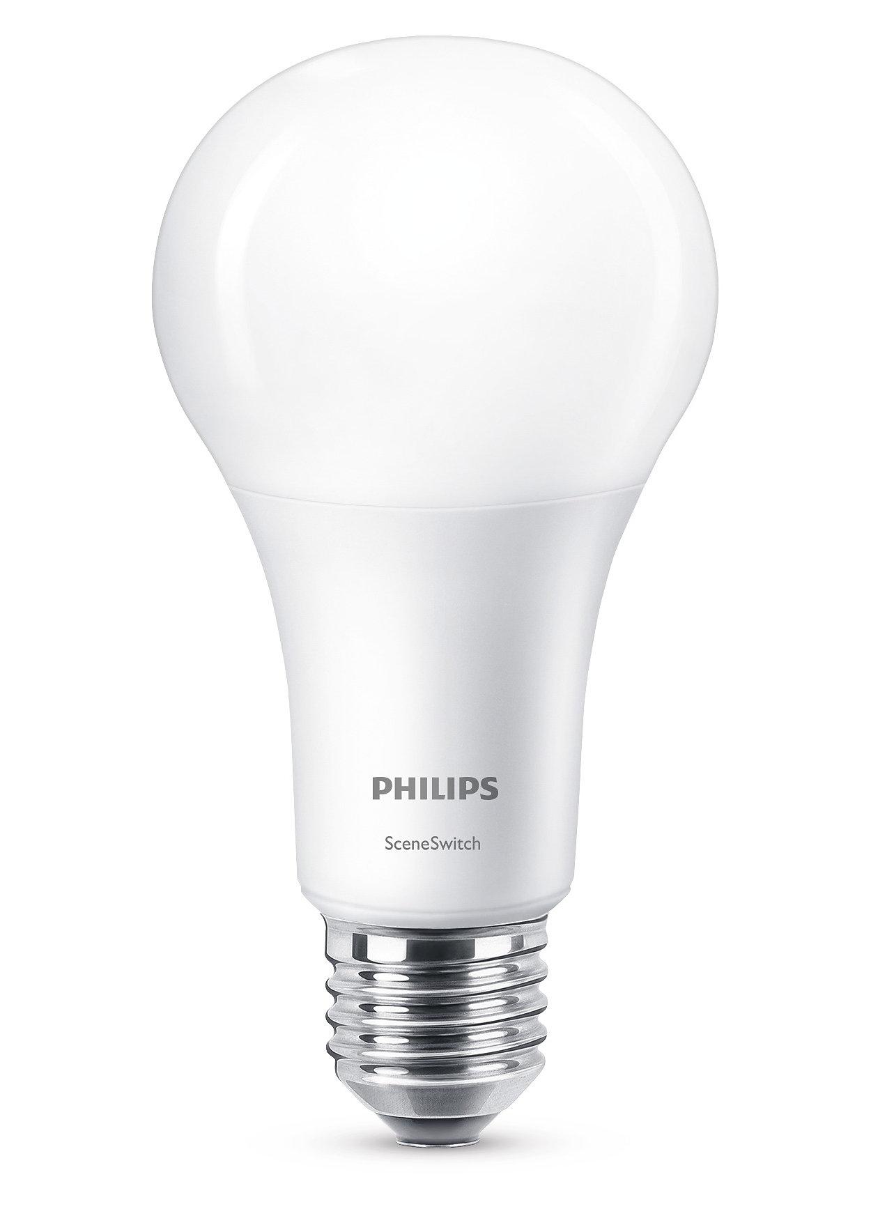En lampe. Din lysbryter. Tre lysinnstillinger.