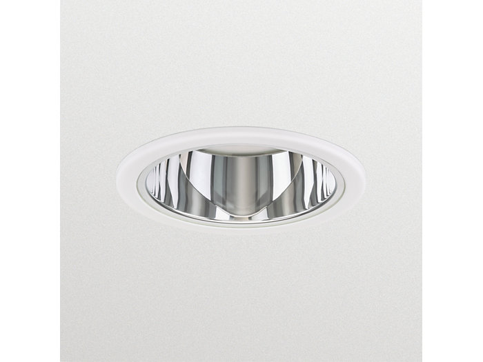 LuxSpace Mini recessed DN561B downlight with high-gloss optic with protection glass