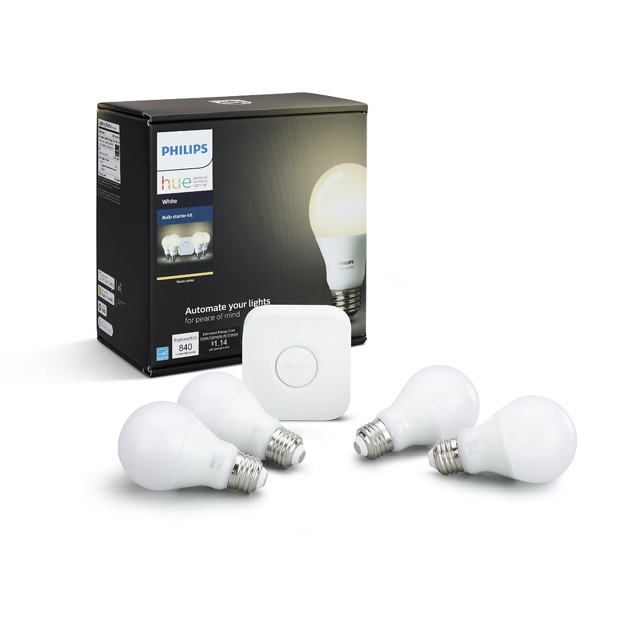 Hue White A19 LED Starter Kit