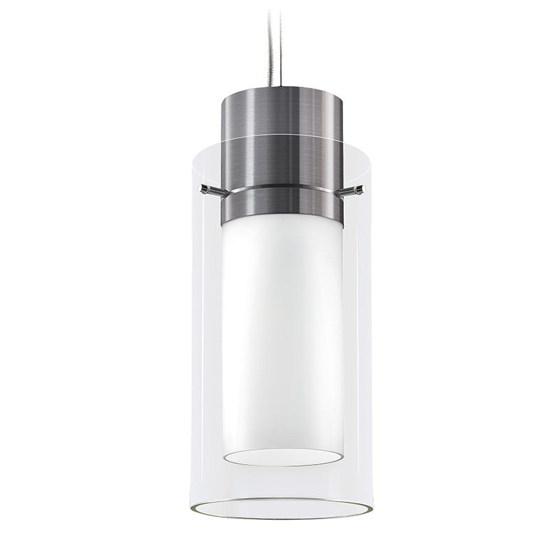 Vetro Pendant, 26/32W CFL 4-pin triple tube (Mark X dimming) Satin Aluminum, 120V (see PM spec sheet for Glass/Acrylic options)