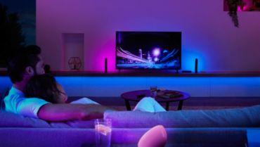 Philips Hue Lampen mit dem Fernseher synchronisieren