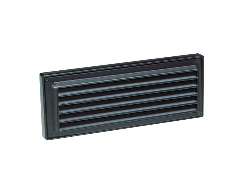 Step Light, Aluminum Louver Brick Light, Black, 18W S-8 (1141) x2, 12V