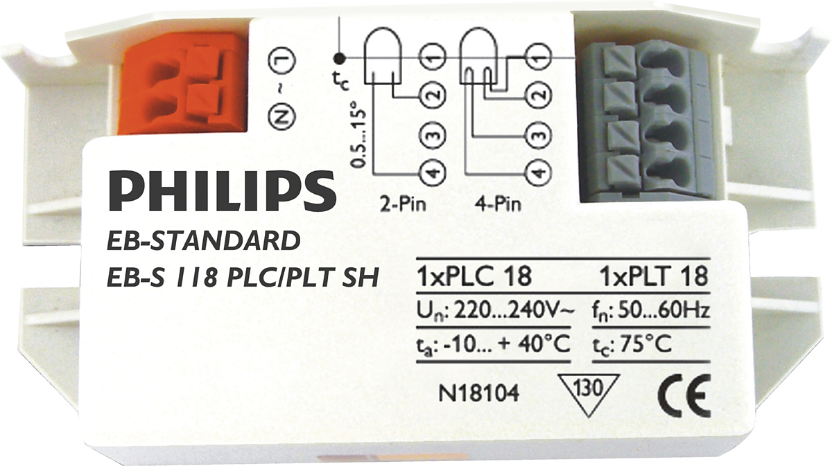Micropower Electronic ballast for TL/PL-S/-T/-C lamps (India)