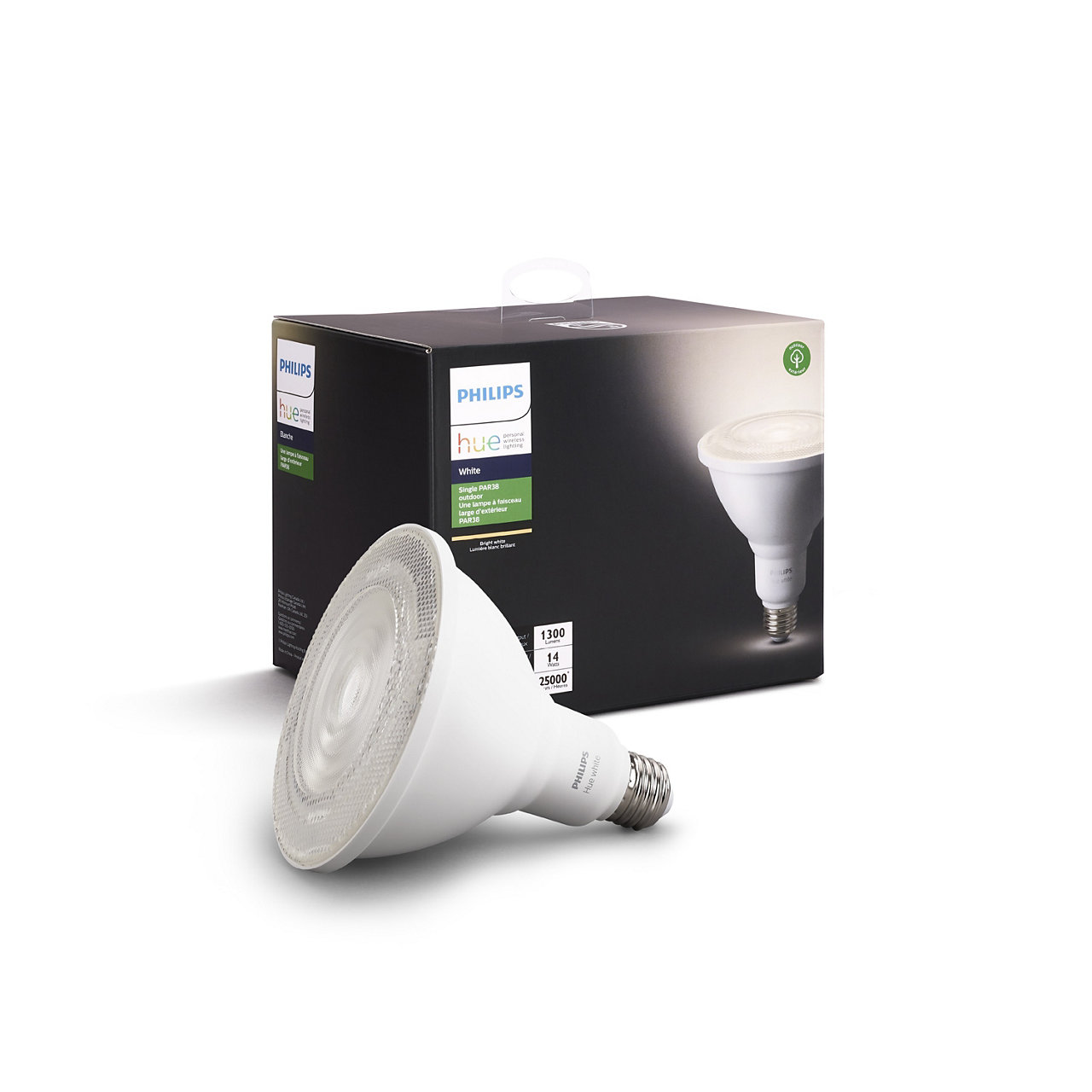 Outdoor Hue White PAR-38 Smart LED Bulb