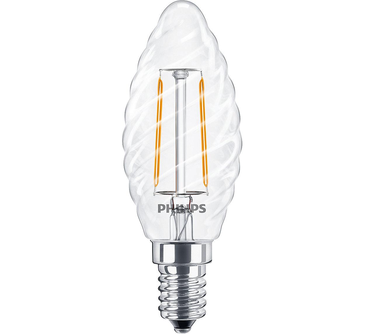 LED-lyskilder med klassisk glødetråd giver dekorativ belysning