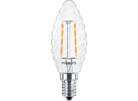 Classic LEDCandle ND 2-25W ST35 E14 827 CL