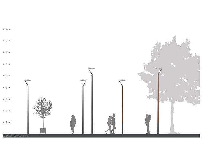 2D rendering CitySoul gen2 Bracket - Lyre