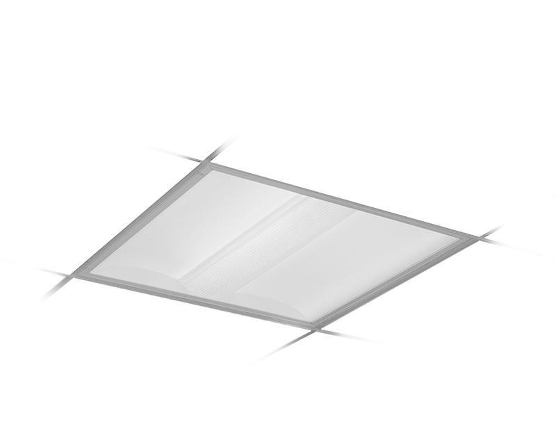 2x2, 2 Lamp F17T8, Diffuse (Ribbed) Center Diffuser
