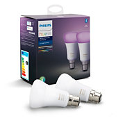 Hue White and colour ambience 2-pack B22