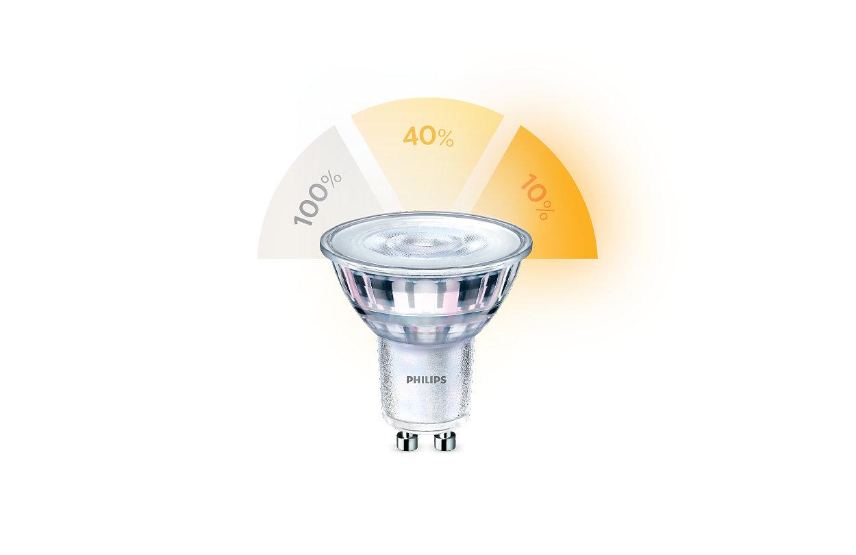 Modifier les réglages d'éclairage sans changer les ampoules