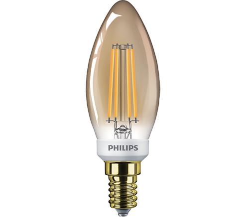 Classic LEDCandle D 5-32W B35 E14 822 GOLD