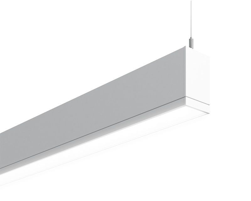 TruGroove Suspended Indirect/Direct LED, 3500 lm/4ft, 3000/3500/4000K Indirect/Direct, Symmetric MesoOptics Lens Down - Performance Lens Up