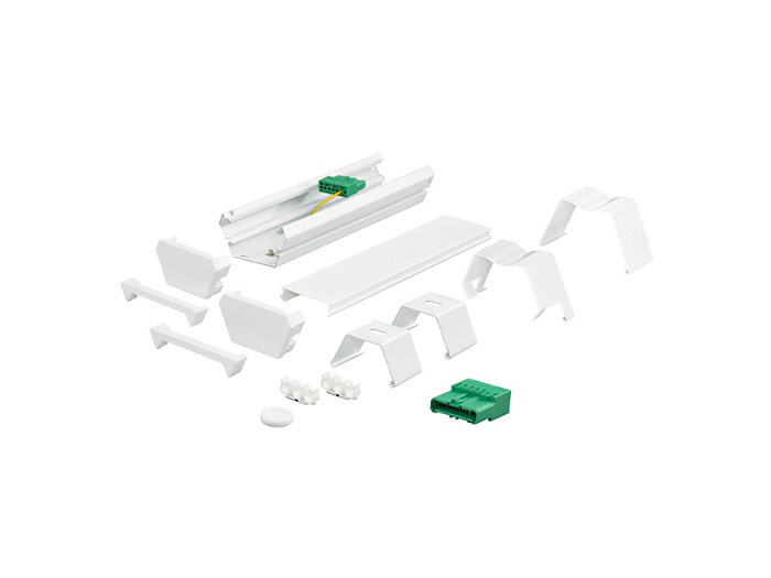 Ceiling mounting bracket, 2 end pieces and connection unit 7-pole