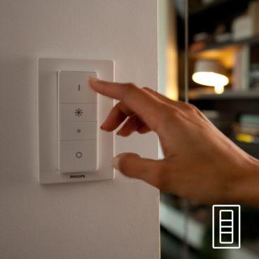 Łatwe, bezprzewodowe sterowanie za pomocą regulatora przyciemniania (w zestawie)