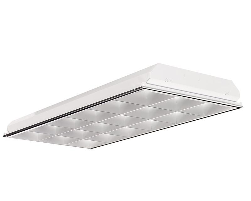 2x4, 3 Lamp F32T8, 18 Cell, Semi-Specular Low Iridescence Anodized Aluminum Louver