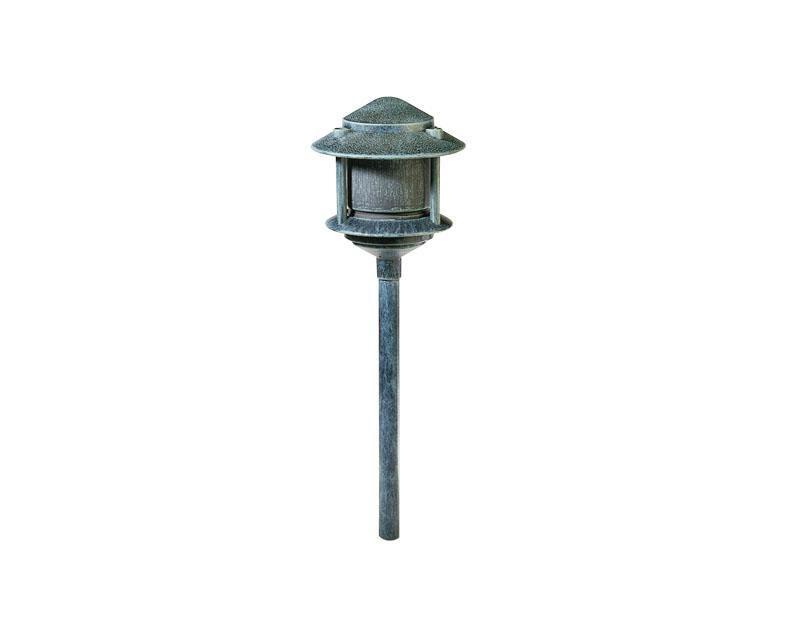 Path Light, Aluminum, Small Horizontal, 75W A19, Verde 120V