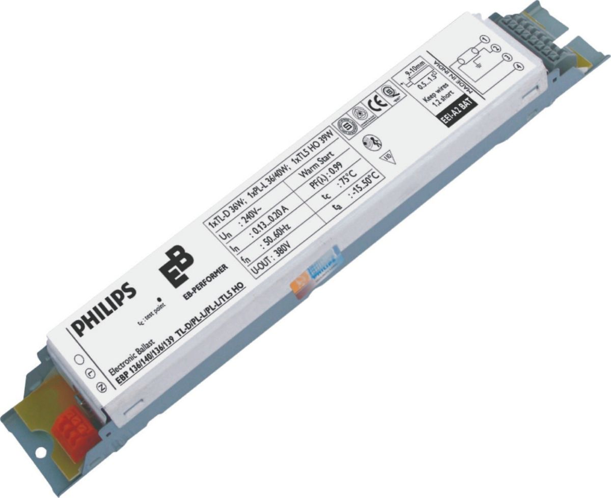 EB-P Electronic ballast for TL-D/PL-L/TL5 lamps (India) Fluorescent Fixed  Output gear - PhilipsPhilips lighting