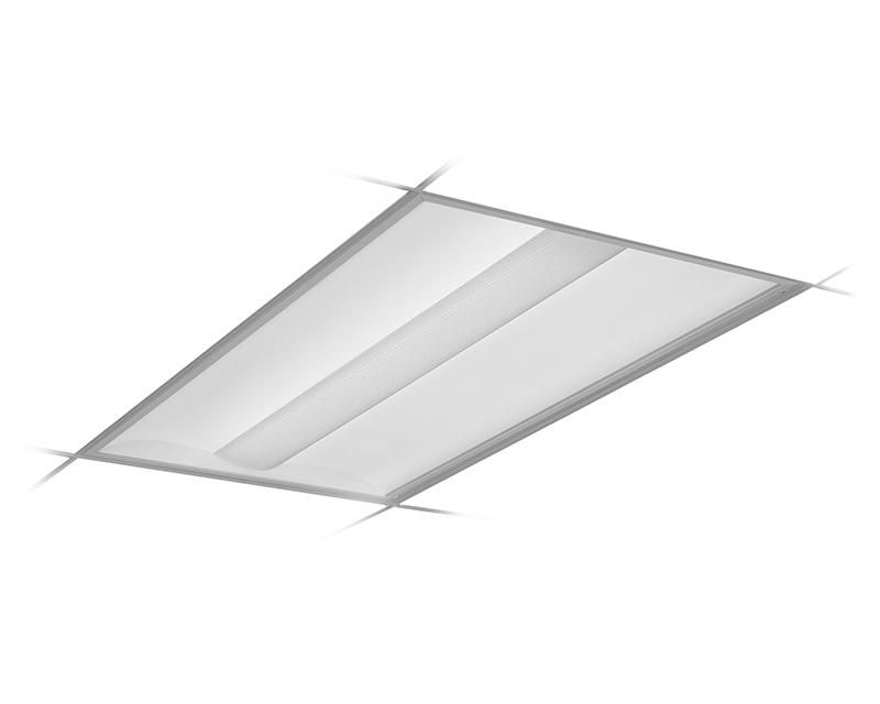 2x4, 2 Lamp F32T8, Round Perforated w/White Overlay Center Diffuser