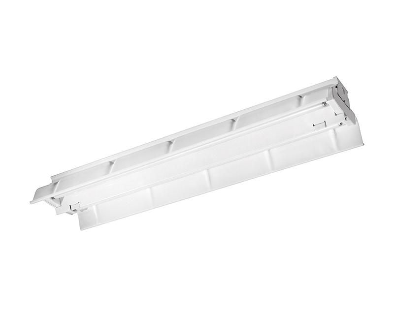 4', 2 Lamp F32T8, Painted Polyester Reflector, 25% Uplight