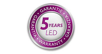 Philips offers 5 year warranty on the LED module and driver