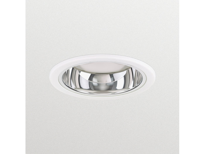 LuxSpace Mini recessed DN560B downlight with high-gloss optic and protection glass
