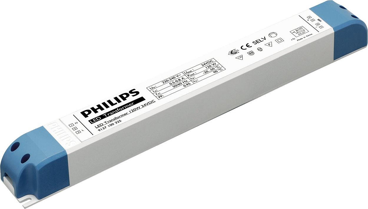 Transformadores electrónicos para aplicaciones LED de bajo voltaje