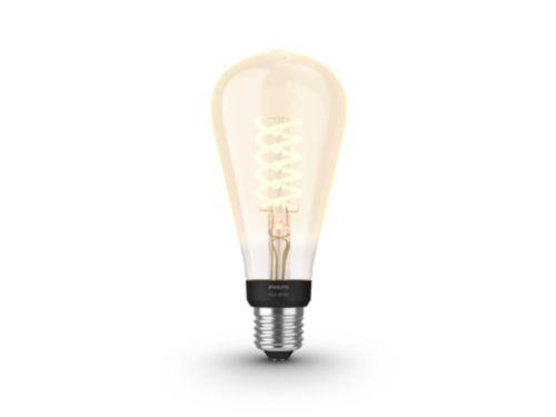 Hue White filament 1-pack ST72 E27 Edison met zichtbare gloeidraad