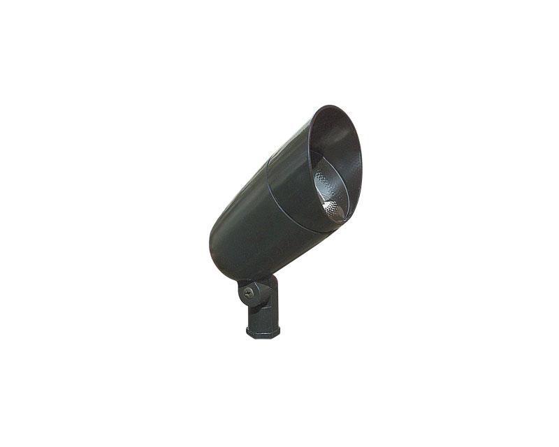 Accent, Aluminum Bullyte w/ Short Shroud & Stake, Black, 75W MR16, 12V