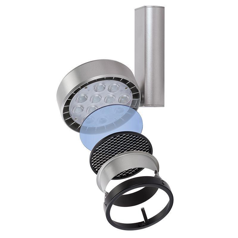 Spot LED 34W, Track & Recessed Lighting, Accessory Holder, Matte Black