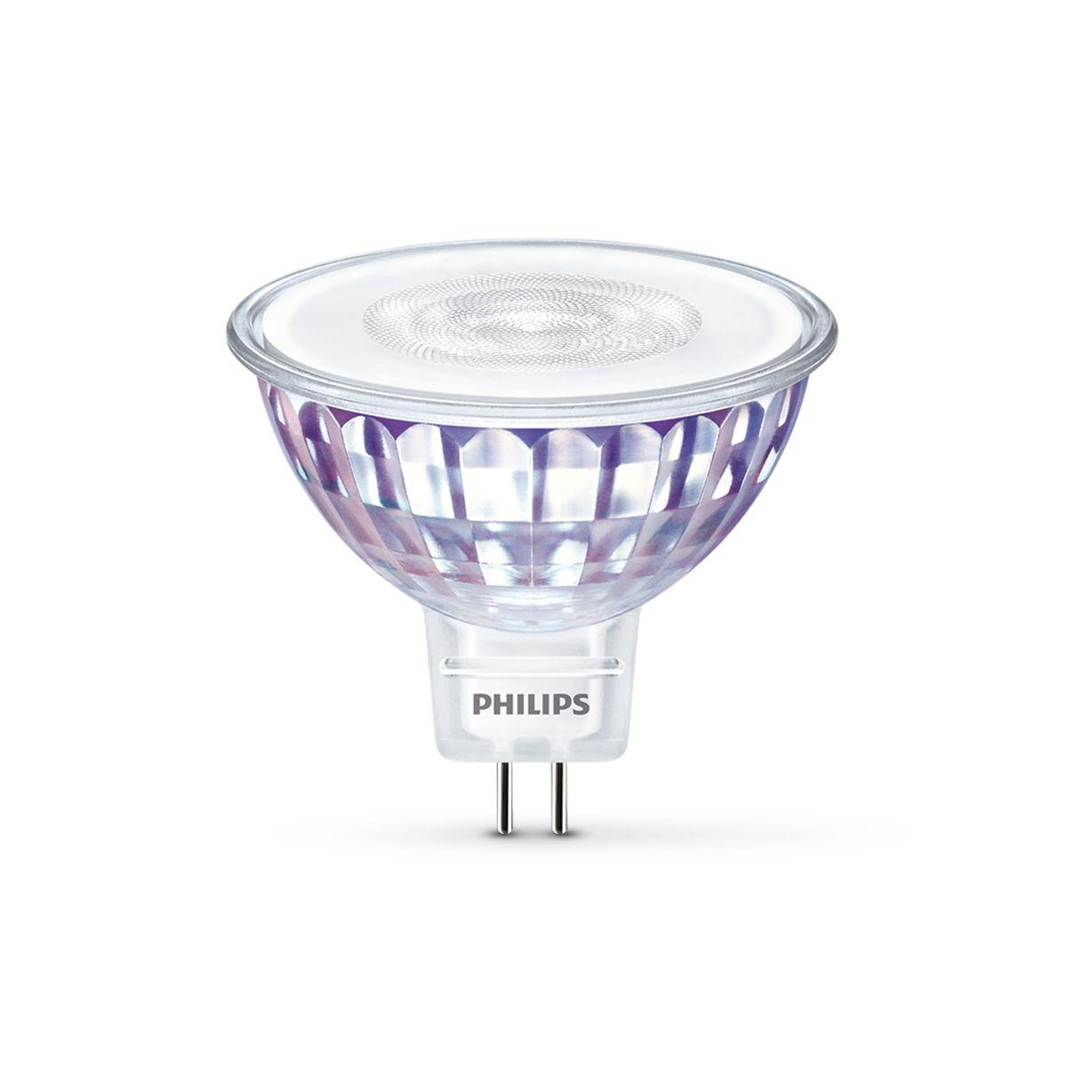 Philips Niedervolt LED Spot MASTER MR16 8W GU5.3 827 24° DIM 50W