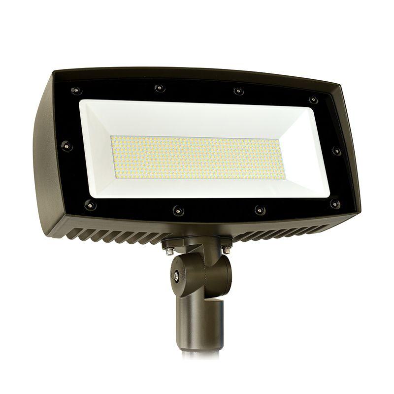 LED, 300W, 4000K, Wide Flood Optics, Textured Dark Bronze