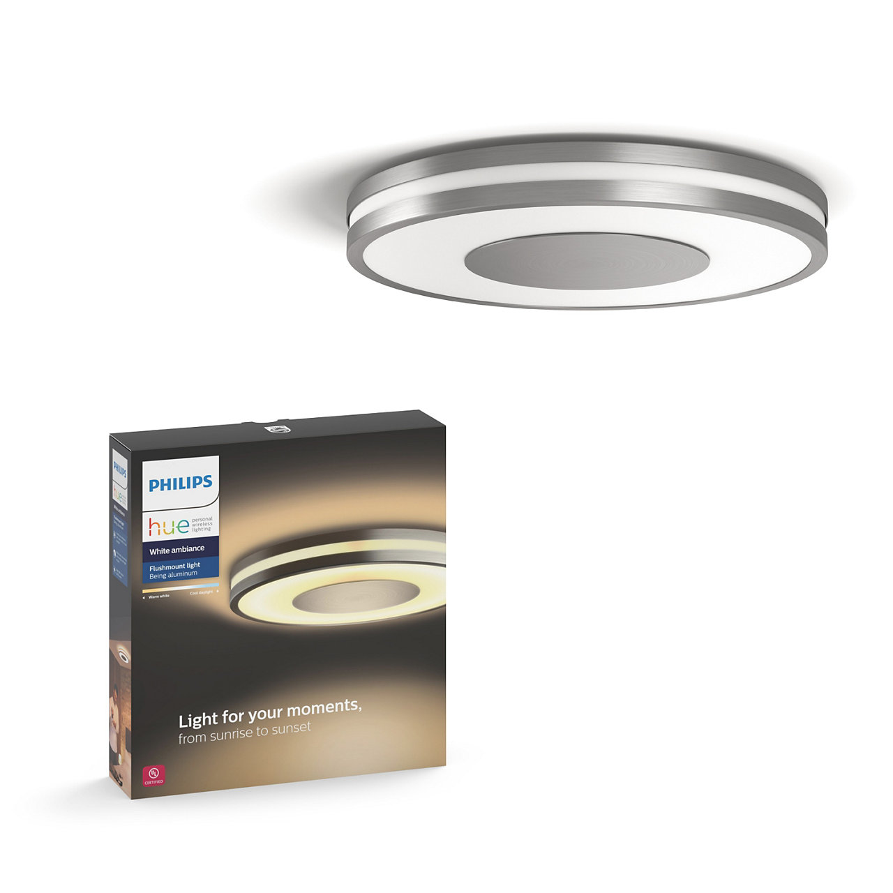 Hue White Ambiance Being Dimmable LED Smart Flushmount