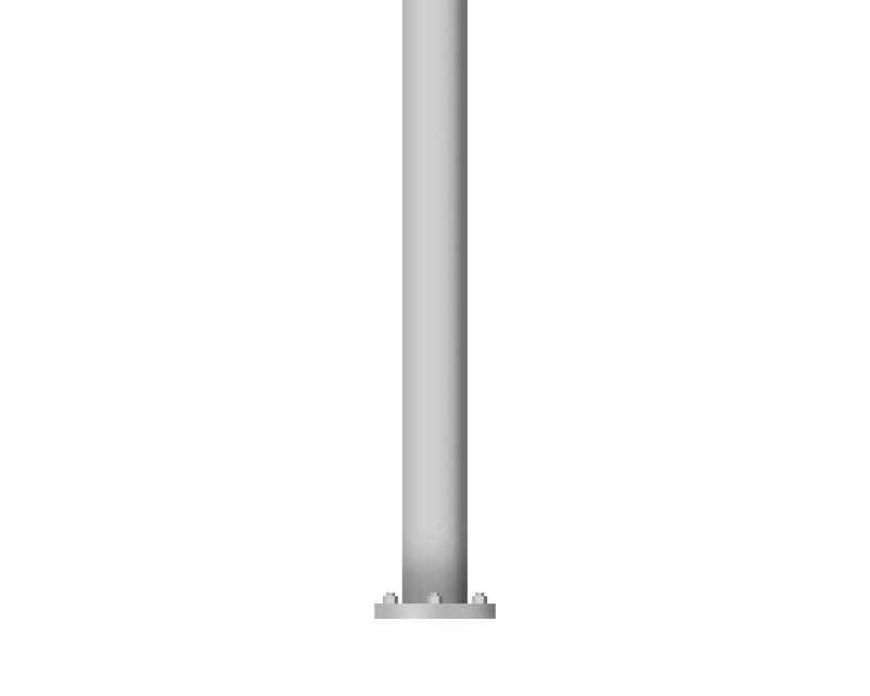 Straight Round Aluminum - Hinged Base, 10 ft height, 4.5 in shaft, 0.125 in wall thickness