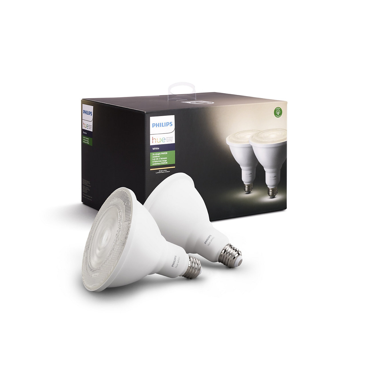 Outdoor Hue White PAR-38 Smart LED Bulb (2-Pack)
