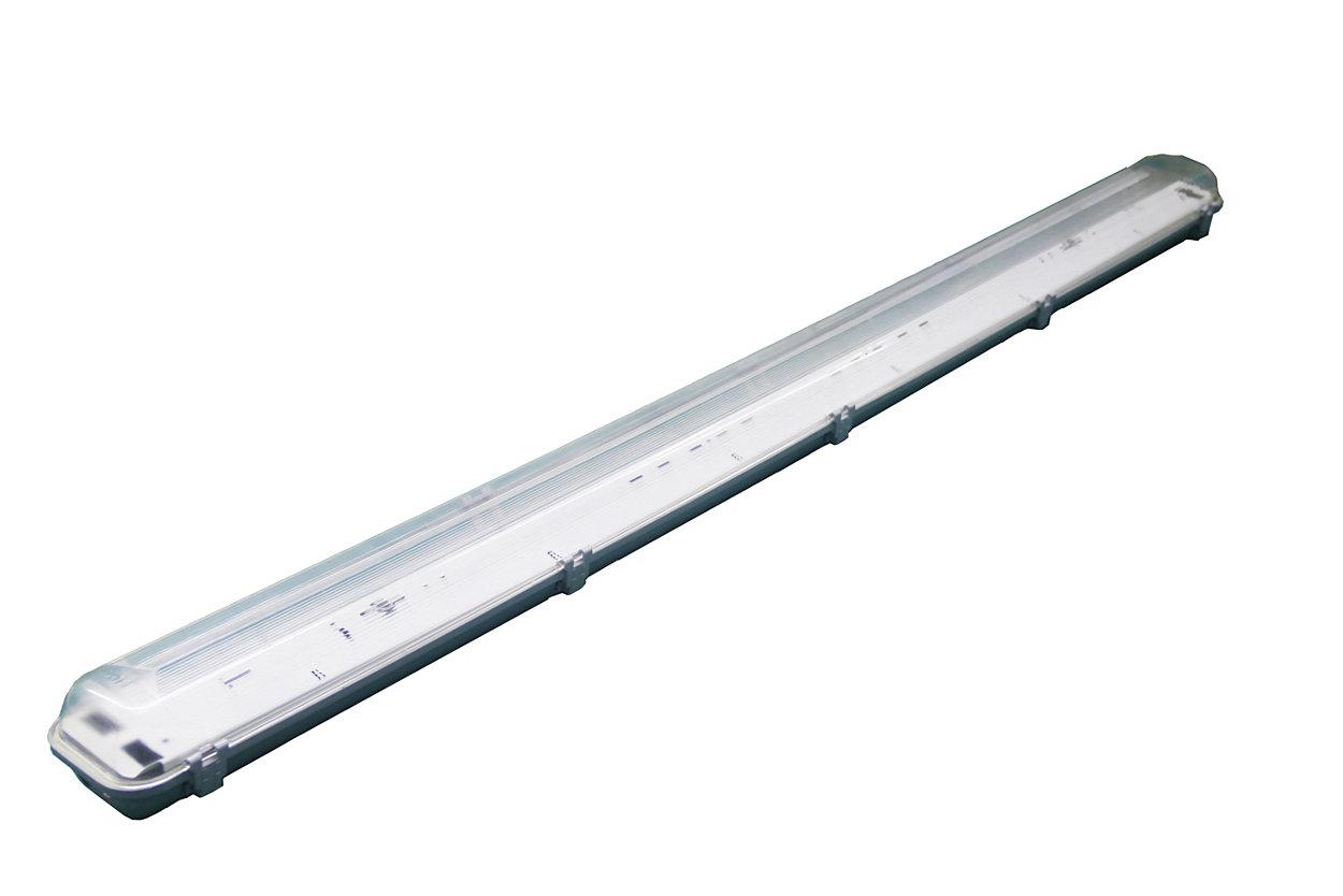 Luminaria económica, compacta y resistente al agua diseñada para uso en entornos exigentes