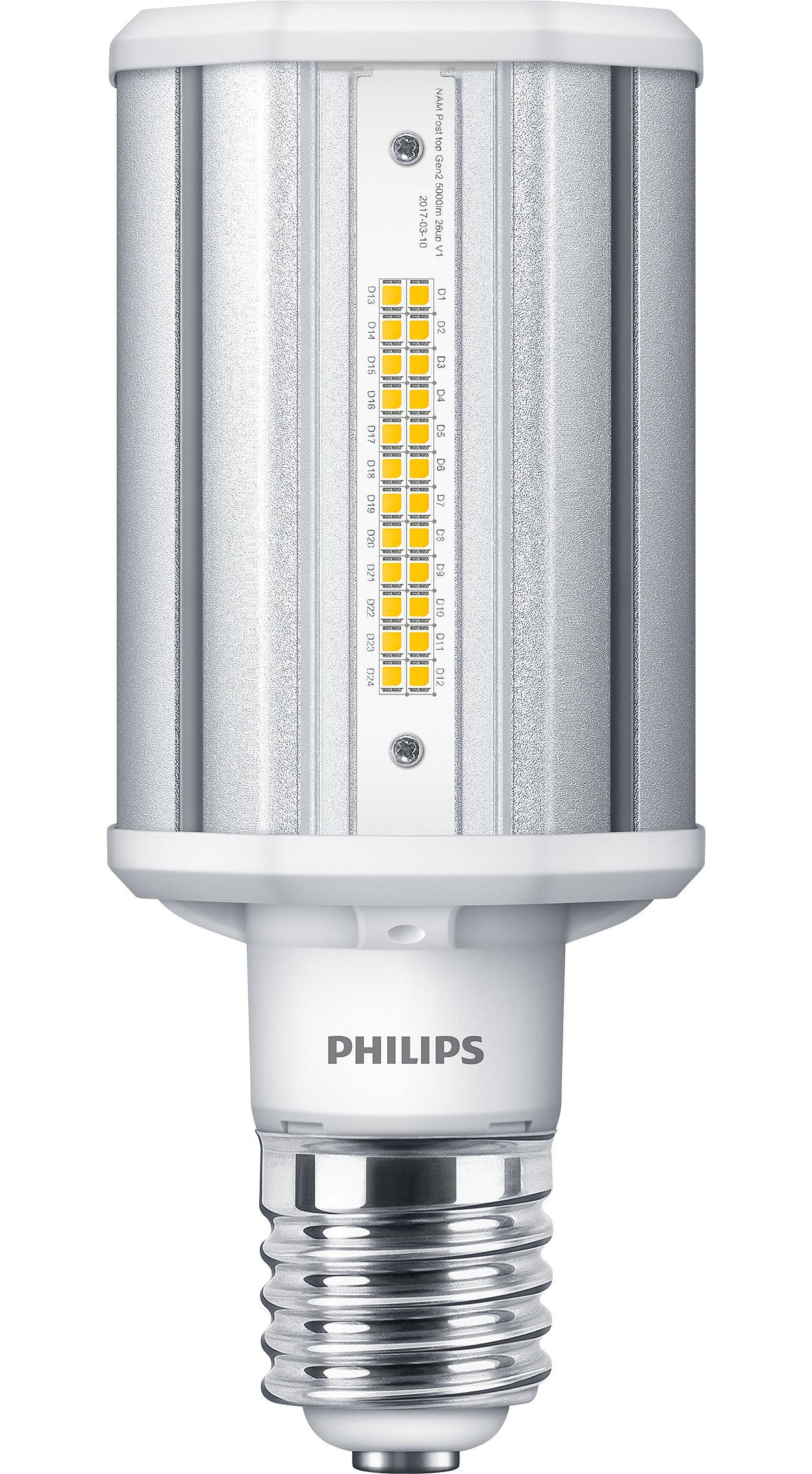A melhor solução de LED para substituição de lâmpada de descarga de alta intensidade (HID) de postes de luz com baixo investimento inicial