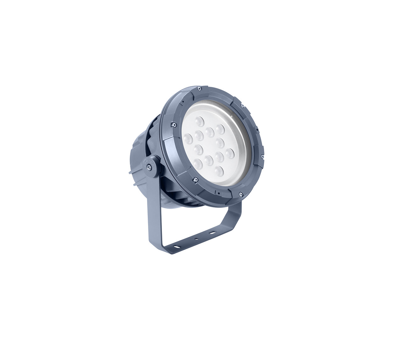 Architectural LED floodlight for fixed or dynamic lighting.