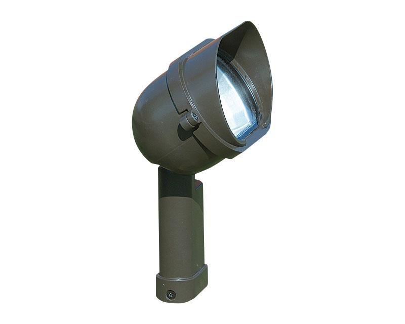 Floodlight, Aluminum w/ Integral Transformer & Shroud, Black, 50W T4, 120V