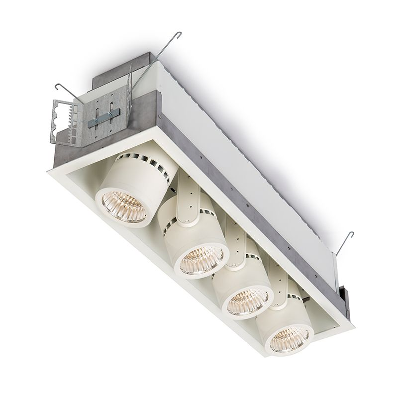 Alcyon LED Vertical 2000lm Cylinder (LLAVRM), Recessed Lighting, Fixture, 3000K, Matte Black, 4 head