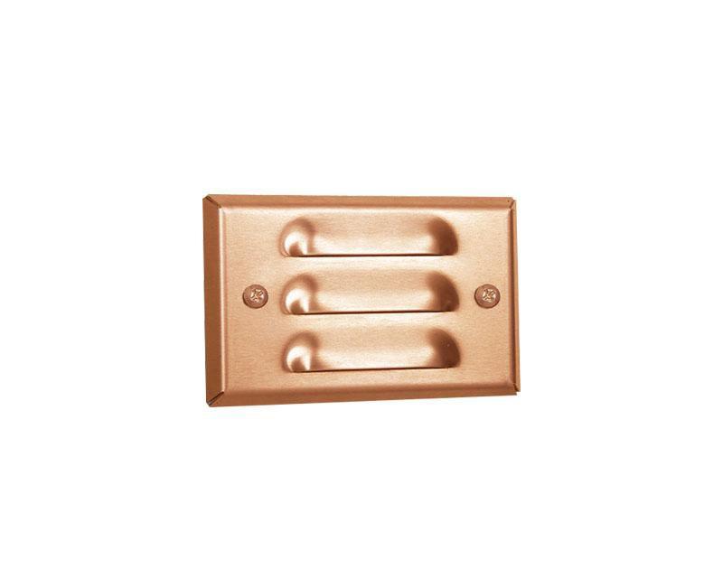 Step Light, Copper, Mini-Recessed Louver, 12W S-8 (93), 12V