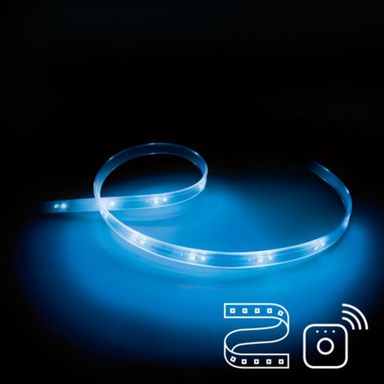Requiere de Philips Lightstrip Plus y un puente Philips Hue