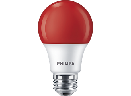 8A19/LED/RED/P/ND 120V 4/1FB