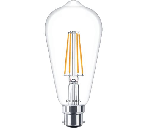 CLA LEDBulb D 8-60W ST64 B22 827 CL